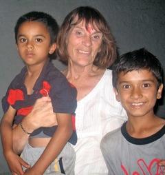 carol with kids