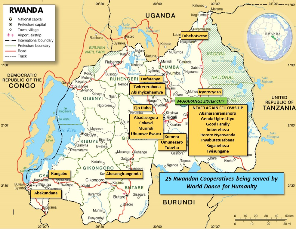 RWANDA MAP WITH CO-OPS June 2017
