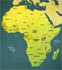 rwanda africa map