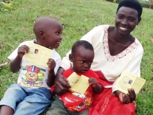 A HAPPY FAMILY - HEALTH CARDS IN HAND!!