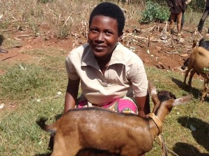 """I finally received a goat. The fact that my friends received goats increased my hope that one day I would get my goat but I was not really sure. Today, what I had as a dream is a reality. I am so much grateful for our loving donors."" Marie Ingabire"