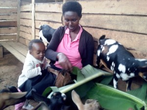 """We all love goats and you can easily tell from my little daughter. Normally we know that animal scare babies especially girls but goats are true friends to any family member no matter which age. This really show how much meaningful a goat is in a family."" Immaculate Nduwimana"