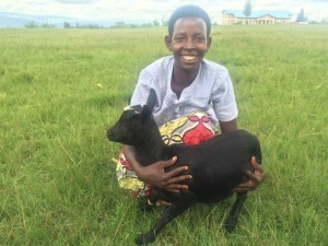 """This is not just a goat. Through this, I can see money, fertilizer and a great respect in my community as a farmer. Many thanks go to you who sent me this goat.""  Francine"