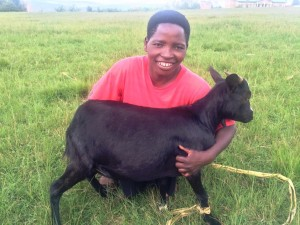 """In my family life, I felt I was jobless but from now on, I have a job. I will be taking good care of my goat to make her more productive for the good of my family. You deserve many thanks as you made this possible."" Jeannette"