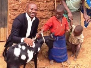 ! Justin with Tubehot Mukabirasa Madelline, goat 2