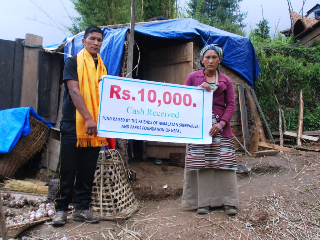 Nepal response Aug 2015 $ sign
