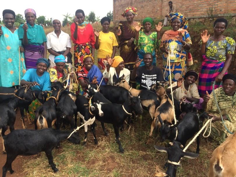 komera women with goats 1