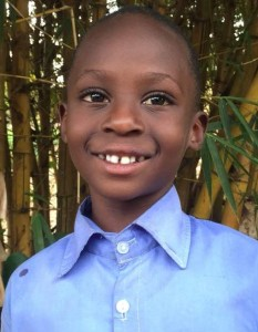 Lionel Uwamahoro Mwambari is 7-years-old and in 1 st grade. He was rejected by both his mother and father after their divorce but was adopted by a co-op member. He loves peace, laughter, and playing football. He enjoys studying music.