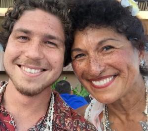 Olga Herrera Pinal & son Brett Stormoen