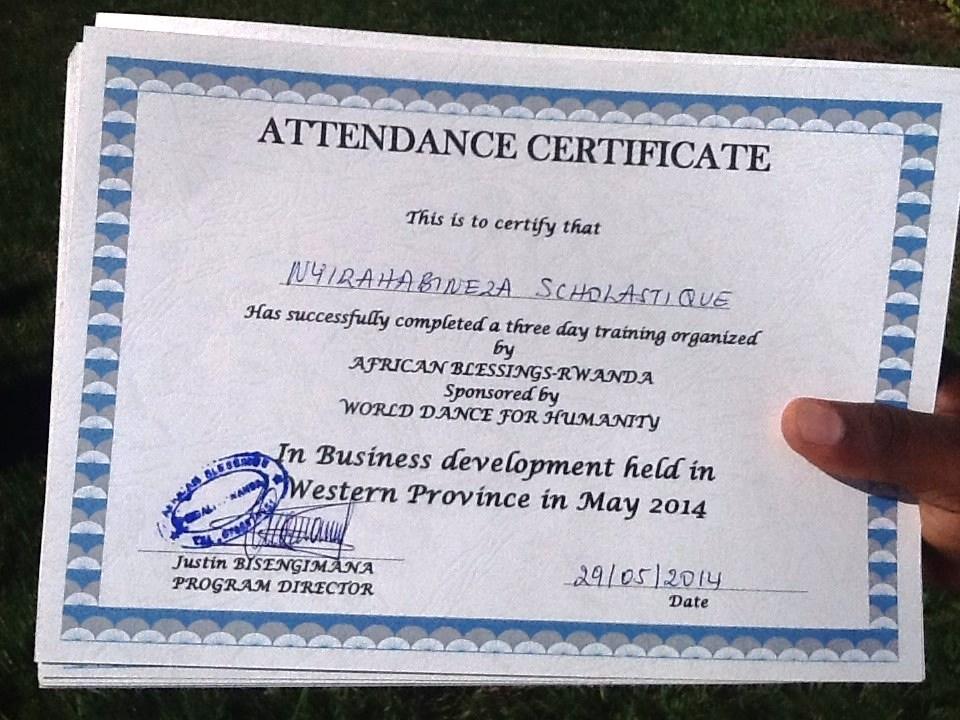 business training certif