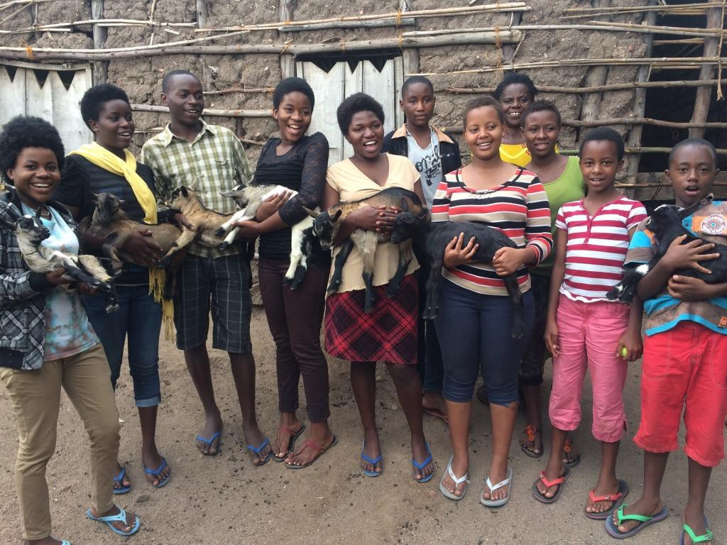 Ejo Habo orphans and goats