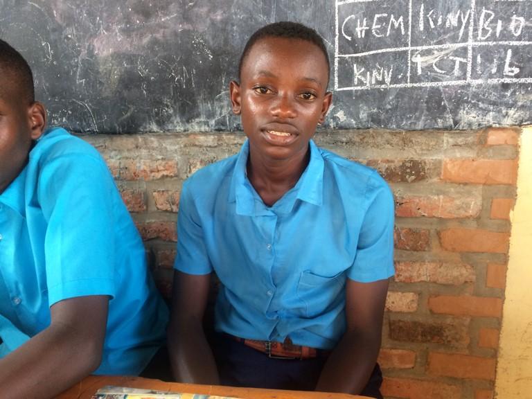 Emmanuel Twahirwa in his school