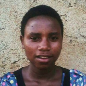 Emma Faustine Uzayisenga was out of school for one year because her parents could not afford her school fees. She is 17 years old, in her second year of high school.