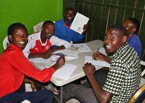 Writing sponsors - Liliane, Jean Gakuru, Felix