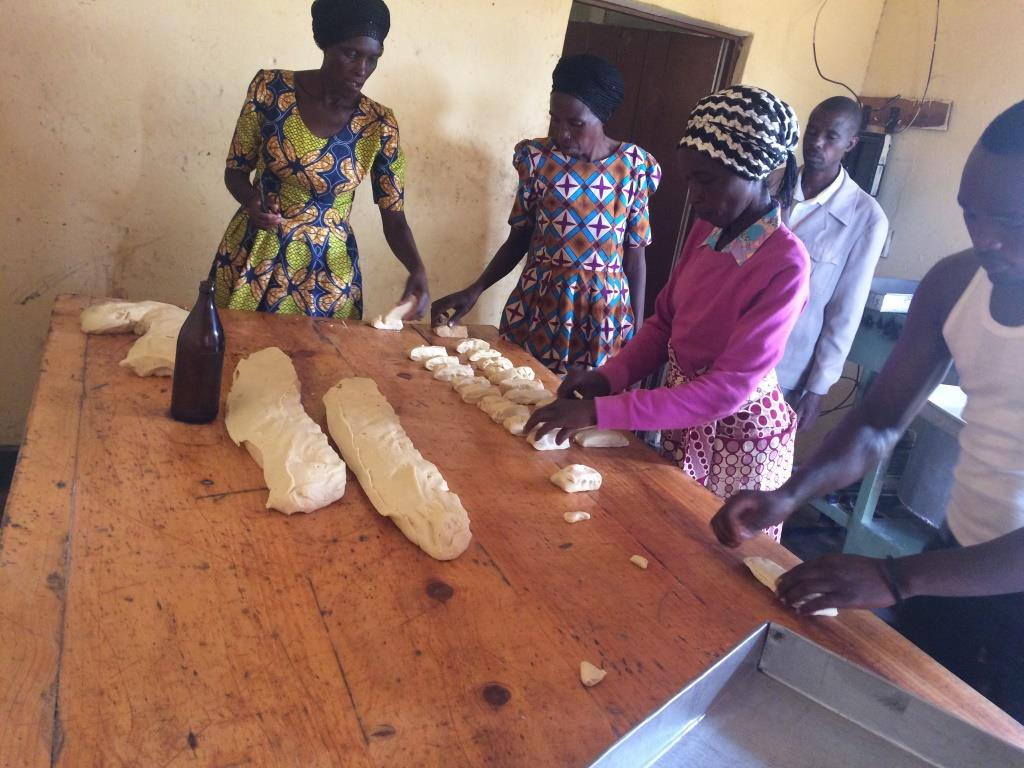 ABISHYIZEHAMWE'S BAKERY is also very successful, providing baked goods 7 days a week to their neighbors and the local school, clinic, and district office.