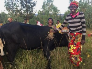 "Consolee: ""We are very glad that our friends from America support us with what we like doing the most. We love cows so much, cows are such a great part of our culture and they are a good source of income especially when you like it. Cows are the only business we have as Murindi women, so you can easily understand how meaningful cows are in our lives. This causes not to find good ways to thank our donors with. We pray for your blessings asking God to replenish your finances."""
