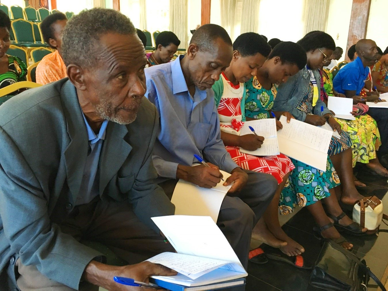 In May we held our annual BUSINESS TRAINING in Kigali for 60 co-op leaders, giving them the basic tools they need to run their fledgling enterprises.