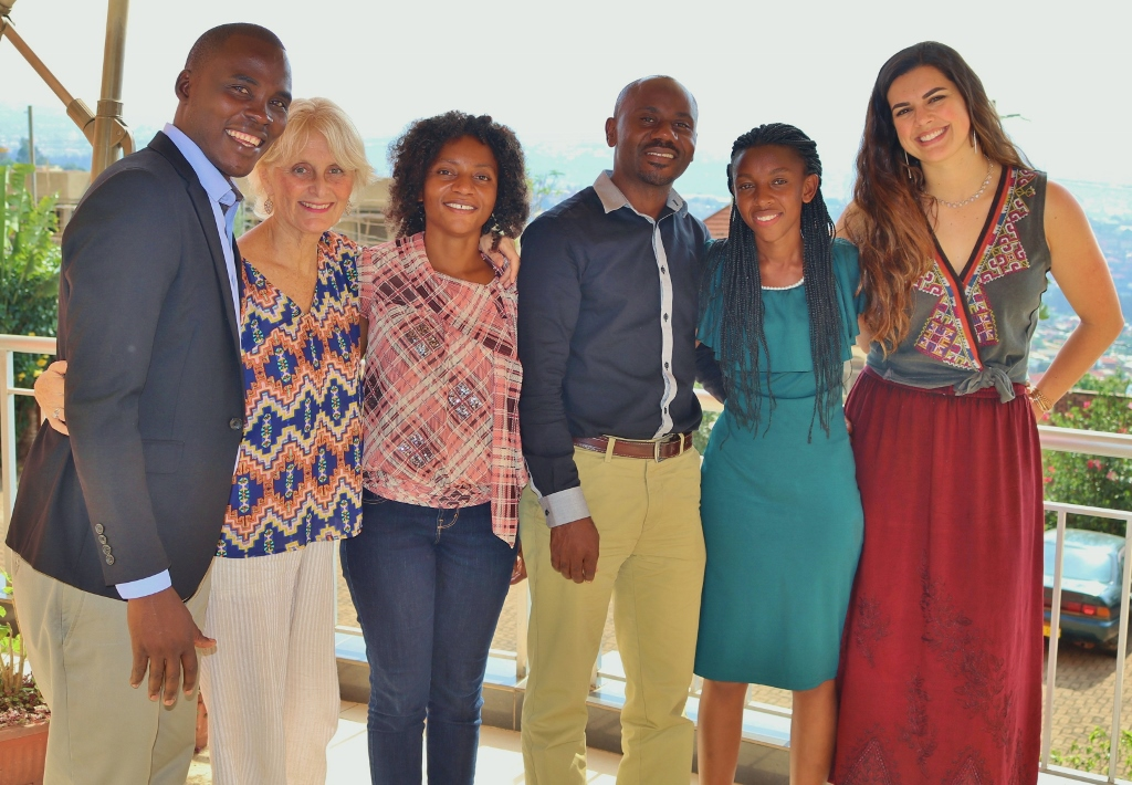 WD4H Team (L to R): Dany Rukundo, Janet Reineck, Chantal Kubwimana, Justin Bisengimana, Judy Rwibutso, and Genevieve Feiner