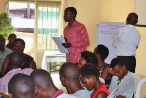 Deoluc addressing fellow students