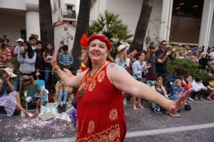 "Sheila Davies:   ""The World Dance Poem came to life this year at the Solstice Parade. Women of all ages, abilities living joyously in the community of dance. Inspiring!"""
